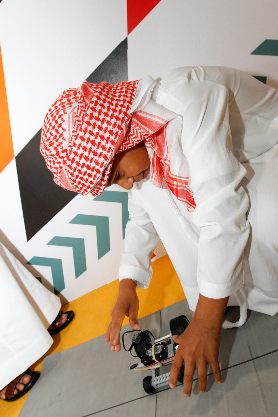 Student at the Abu Dhabi Science Festival
