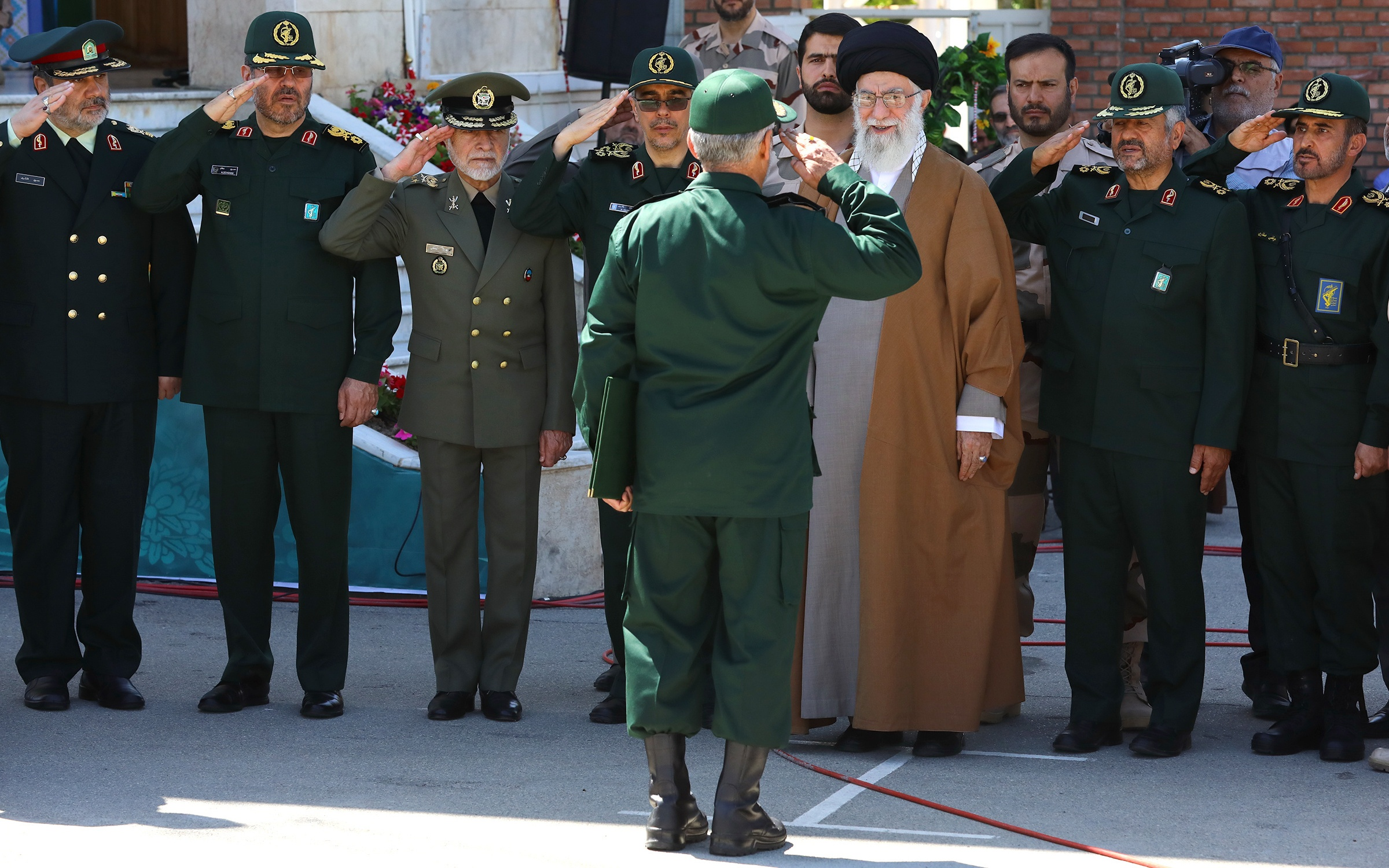 The Ayatollah is meeting senior officials of the IRGC