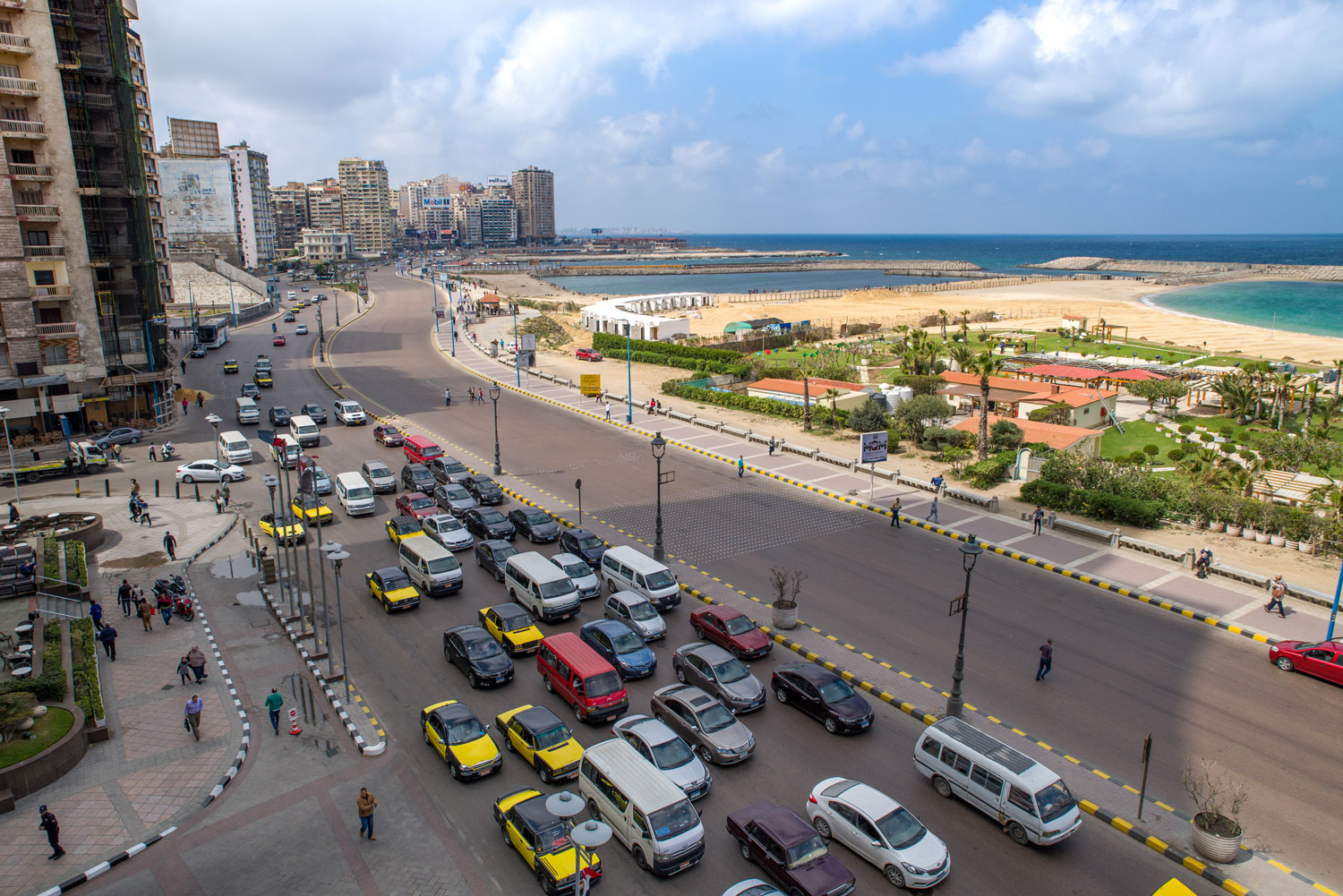 The sea-side city of Alexandria was struck by a terror bombing in Palm Sunday in April, killing 16 at St Marks Cathedral. On the same day a second bombing killed scores of people at a church service in Tanta, a city in the Nile Delta.