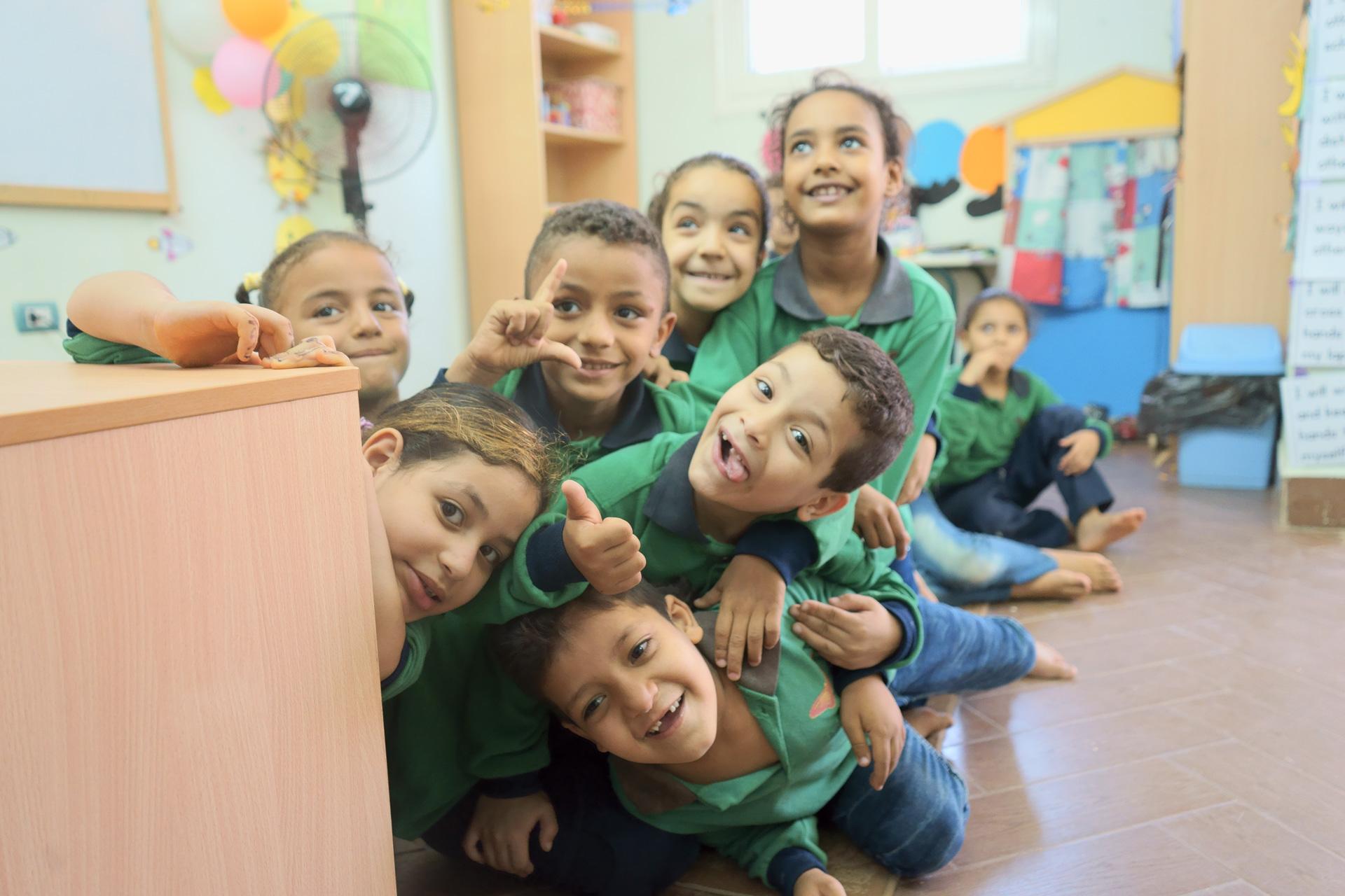 Children at Educate Me, Cairo